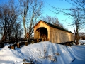Swamp Road Covered Bridge in winter